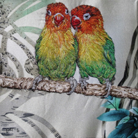 Pair of Lovebirds Art - valentine.