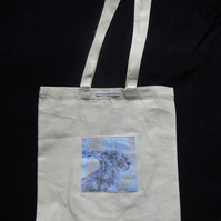 Brown hare Art Design Pocket Tote Bag