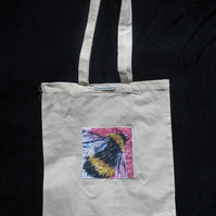 Bumblebee Art Design Pocket Tote Bag