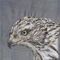 Bird of Prey - Goshawk Textile Art