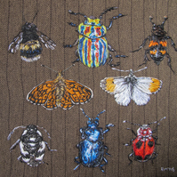 Insect Textile Artwork