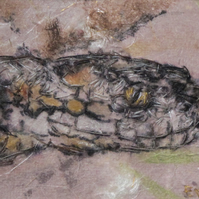 Adder Mixed Media Artwork