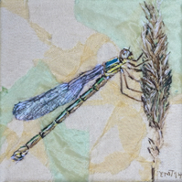 Damselfly  textile art