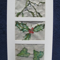 Christmas Botanical Artwork Triptych