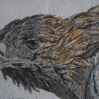 Golden Eagle mixed media artwork