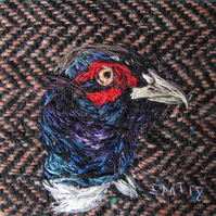 Pheasant Textile Artwork