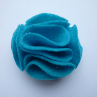 Teal Felt Flower Corsage :: Harriet
