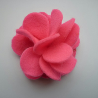 Pink Felt Flower Corsage :: Verity