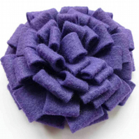 Purple Felt Flower Corsage :: Florence