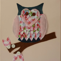 SALE :: 'Little Owl' Canvas :: Children's Bedroom Wall Art