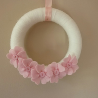 SALE :: Cherry Blossom Wreath Hanging Decoration