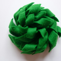 Green Felt Flower Corsage :: Beatrice