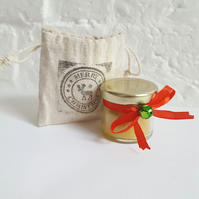 Christmas Beeswax Candle. Mini Gift. Stocking Filler. Secret Santa