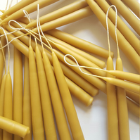 Beeswax Taper Candle. Dinner Candles. Dripless Table Candles