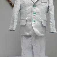 Boy Occasion Tailored Suit. Toddler Three Piece Wedding Outfit. Infant Page Boy