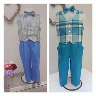 Baby Boy Occasion Suits. Infant Wedding Wear, Two Piece Birthday Party Outfit