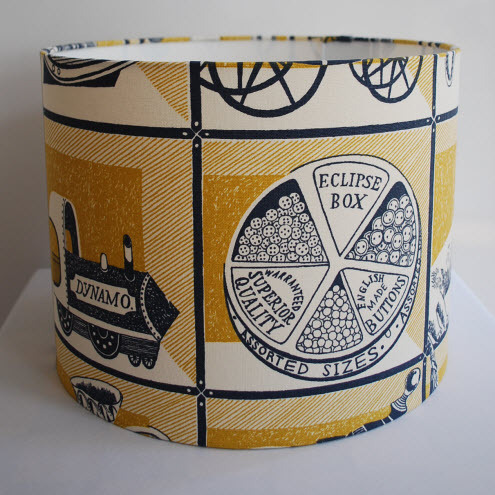 Handmade Drum Lampshade in Emily Sutton's Curiosity Shop