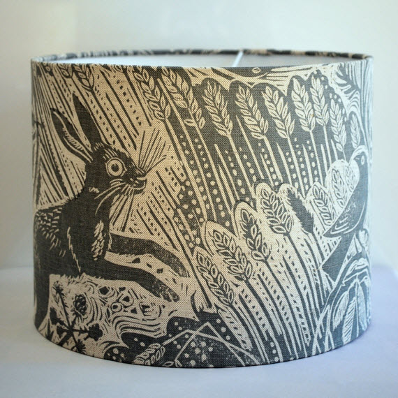 Harvest Hare Drum Lampshade