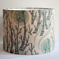 Birch Tree Sun Drum Lampshade