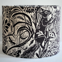 Squirrel and Sunflower Drum Lampshade
