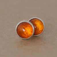 Handmade 6 mm Amber earrings