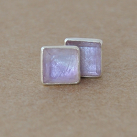 Lavender amethyst earrings, Handmade