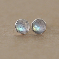 Handmade Labradorite and sterling silver earrings