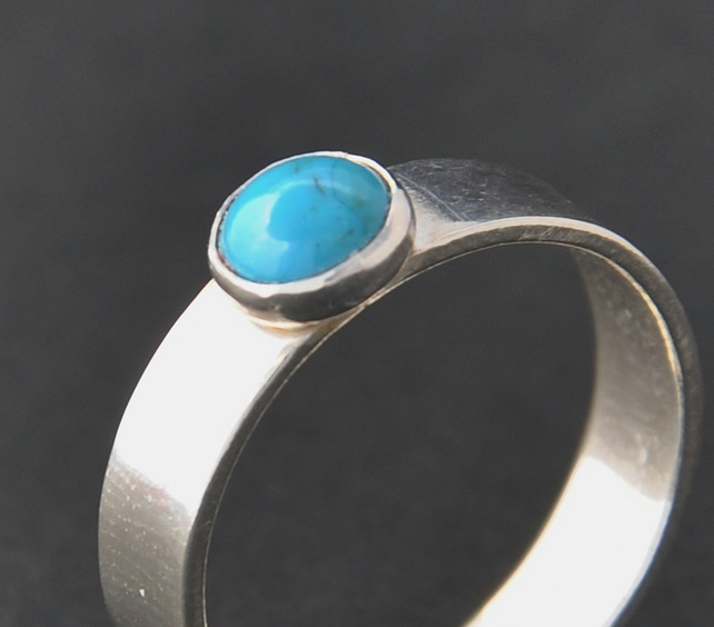 Handmade Turquoise and sterling silver ring