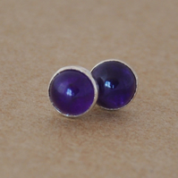 Handmade Amethyst and sterling silver earrings