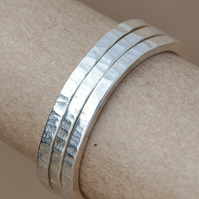 Handmade Sterling silver stacking ring