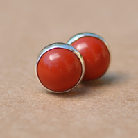 Handmade Jasper earrings, 6 mm