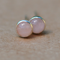 Handmade Rose Quartz Earrings 3mm