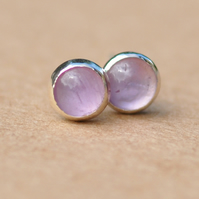 Lavender Amethyst sterling silver earrings, Handmade