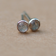 Handmade Labradorite earrings, 3 mm