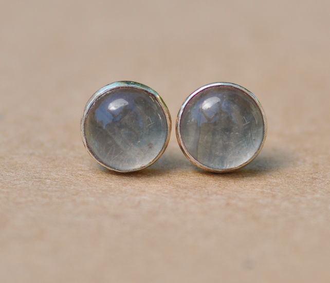 Handmade Grey moonstone earrings