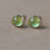 Handmade Peridot and sterling silver earrings