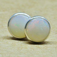 Genuine Opal Earrings with Sterling Silver studs. 5mm Opal jewellery