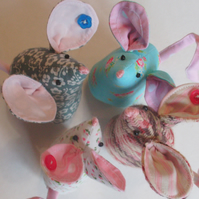 Mouse pin cushion, mice, pin cushion, sewing accessories, pin cushion