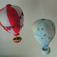 Hot air balloon mobile,nursery mobile,balloon mobile,nursery mobile decor
