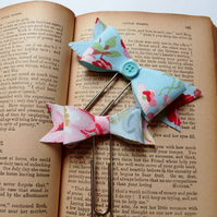 Bow paper clips,planner accessories,pair of bow paper clips,bookmark,diary clips