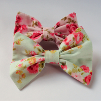 Fabric hair bow, hair clips, hair accessory, girls hair bow, cute hair bow