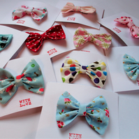 Fabric hair bow, hair clips, hair accessories, girls hair bow