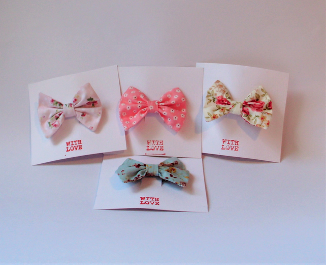Fabric hair bow,hair clips, hair accessories,girls hair bow, cute hair bow baby