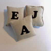Alphabet, personalised letter, pin cushion