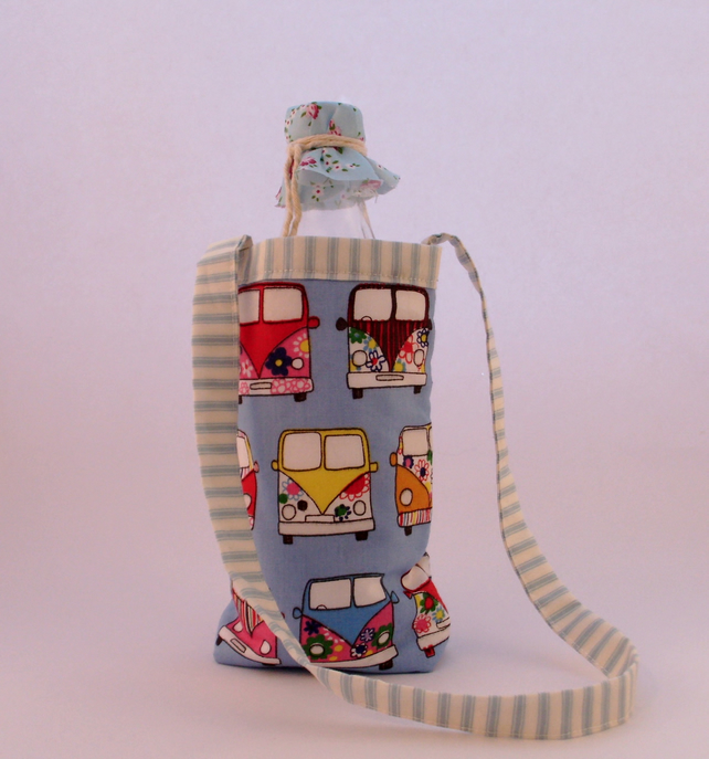 Bottle bag, school water bottle holder, baby bottle holder, picnic, quilted bag