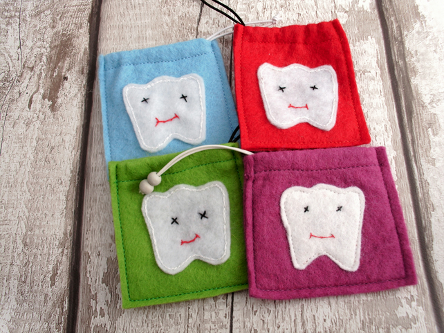 TOOTH FAIRY DRAWSTRING BAG,TOOTH FAIRY,TOOTH BAG,PERSONALISED TOOTH FAIRY BAG