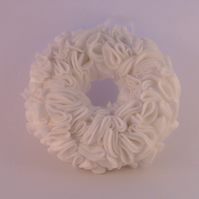 White felt wreath,Wedding decor,spring wreath,door wreath,White Christmas wreath