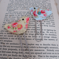 Bird book mark,paper clip bookmark,fabric bookmark,planner accessories
