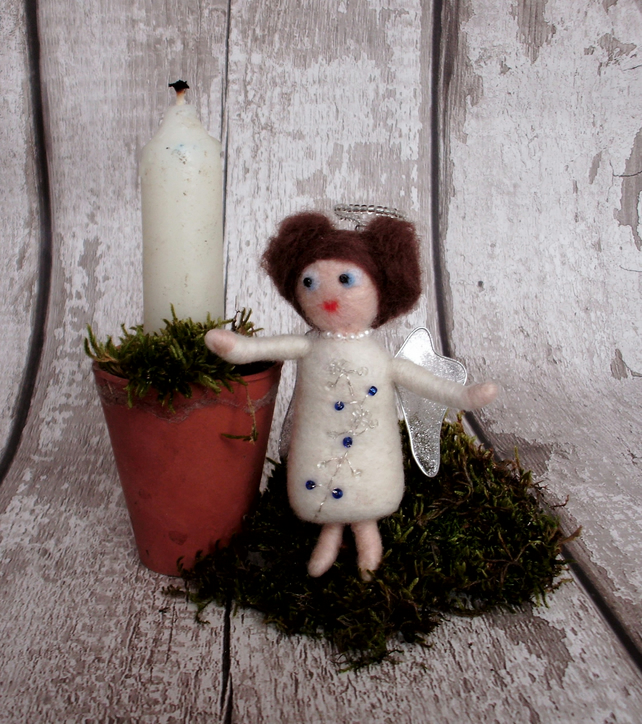 Christmas Angel, needle felt angel, Christmas decoration,tree ornament,