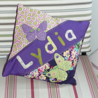 personalised appliqued cushion